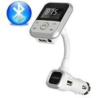 Fm-sändare Med Bluetooth-handsfree Och Billaddare (silver)