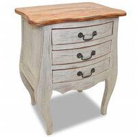 vidaXL Sängbord i massivt återvunnet trä 48x35x64 cm