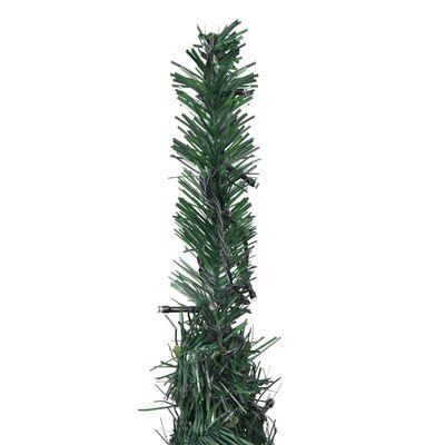 vidaXL Pop-up Plastgran slinga med LED grön 180 cm