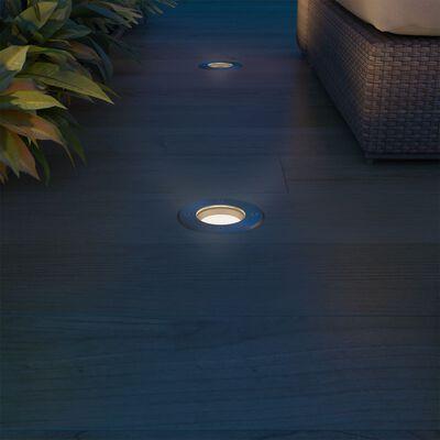 vidaXL Marklampa med LED 3 st fyrkantiga