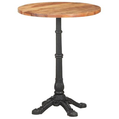 vidaXL Cafébord Ø60x76 cm massivt akaciaträ