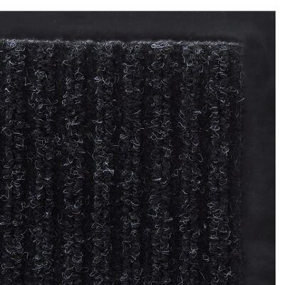 Dörrmatta PVC Svart 120 x 180 cm