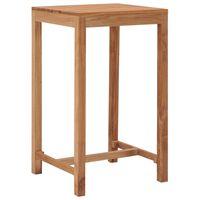 vidaXL Ståbord för utomhusbruk 60x60x105 cm massivt teakträ