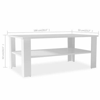vidaXL Soffbord spånskiva 100x59x42 cm vit