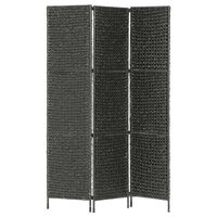 vidaXL Rumsavdelare 3 paneler vattenhyacint 116x160 cm svart