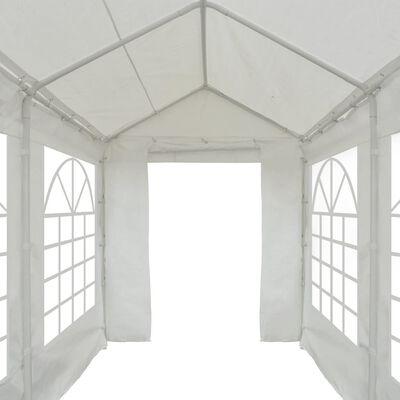 vidaXL Partytält PE 2x5 m vit
