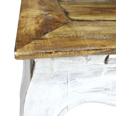 vidaXL Sidobord i massivt återvunnet trä 50x50x35 cm