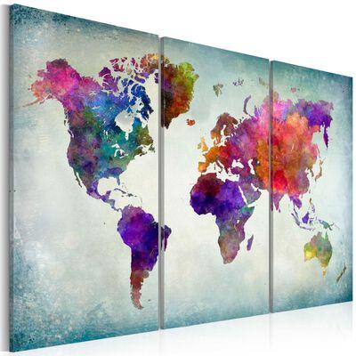 Tavla - World In Colors - 120x80 Cm