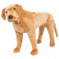 vidaXL Stående leksakshund labrador ljusbrun XXL