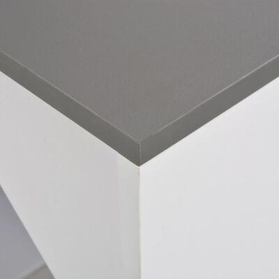 vidaXL Barbord med skåp vit 115x59x200 cm