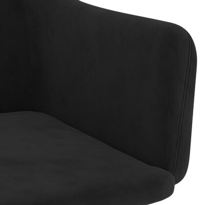 vidaXL Matstolar 2 st svart sammet