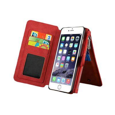 Multiplånbok 14-kort Apple iPhone 6/6S Plus Röd