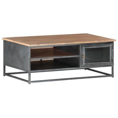vidaXL Soffbord grå 90x50x35 cm massivt akaciaträ