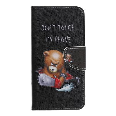 Samsung Galaxy A40 Plånboksfodral - Angry Bear and It's Warning,