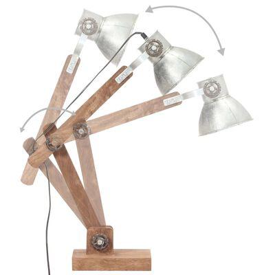 vidaXL Skrivbordslampa industriell silver rund 58x18x90 cm E27