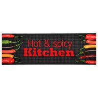 vidaXL Köksmatta maskintvättbar Hot & Spicy 60x300 cm