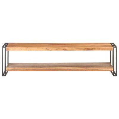 vidaXL TV-bänk 150x30x40 cm massivt akaciaträ