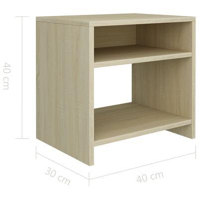 vidaXL Sängbord sonoma ek 40x30x40 cm spånskiva