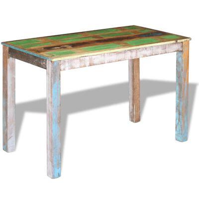 vidaXL Matbord massivt återvunnet trä 115x60x76 cm