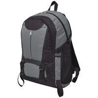 vidaXL Vandringsryggsäck 40 L svart och grå
