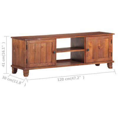 vidaXL TV-bänk honungsbrun 120x30x41 cm massivt akaciaträ