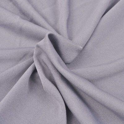 vidaXL Sofföverdrag med stretch grå polyesterjersey