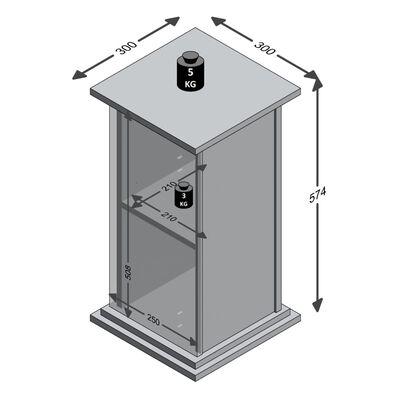 FMD Sidobord med dörr 57,4cm vit
