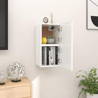 vidaXL Väggmonterade tv-skåp 2 st vit 30,5x30x30 cm