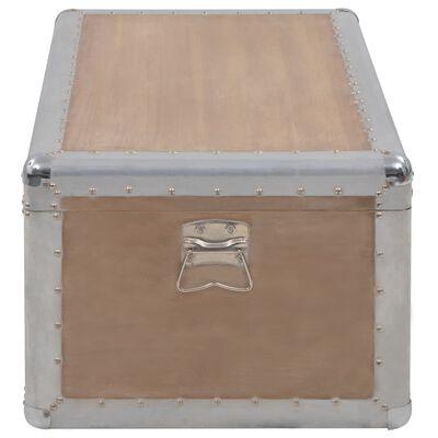 vidaXL Förvaringslåda massivt granträ 91x52x40 cm brun