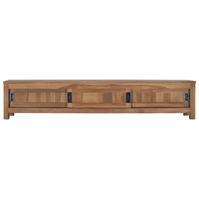 vidaXL TV-bänk 150x30x30 cm massiv teak