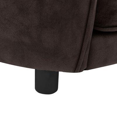 vidaXL Hundsoffa brun 69x49x40 cm plysch