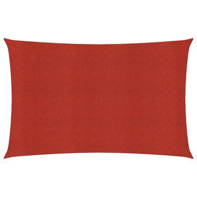 vidaXL Solsegel 160 g/m² röd 3,5x4,5 m HDPE