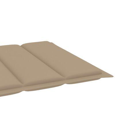 vidaXL Solsängsdyna beige 200x50x4 cm tyg