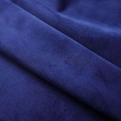 vidaXL Mörkläggningsgardiner med ringar 2 st mörkblå sammet 140x225 cm