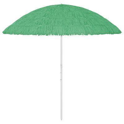 vidaXL Strandparasoll grön 300 cm