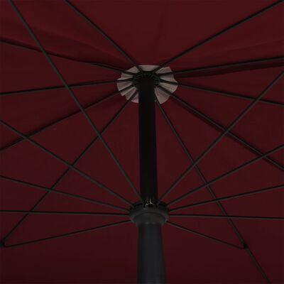vidaXL Parasoll med stång 200x130 cm vinröd