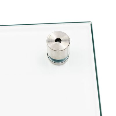 vidaXL Stänkskydd transparent 100x50 cm härdat glas