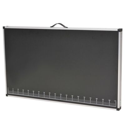 vidaXL Hopfällbart tapetbord MDF och aluminium 200x60x78 cm