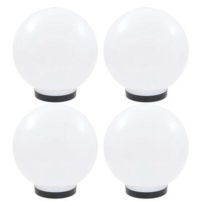 vidaXL Globlampor 4 st LED sfäriska 25 cm PMMA
