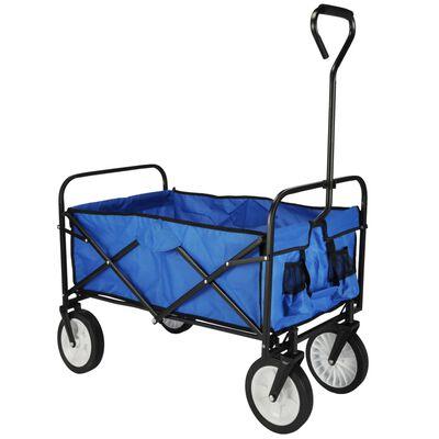 HI Hopfällbar vagn blå 53,5x83x27 cm