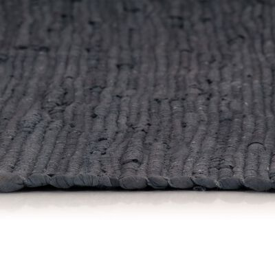 vidaXL Handvävd matta Chindi bomull 160x230 cm antracit, Anthracite