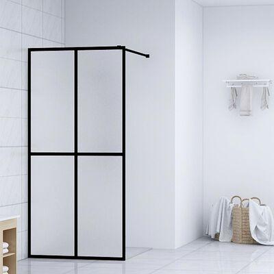 vidaXL Duschvägg till duschkabin härdat glas 90x195 cm