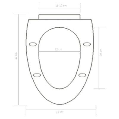 vidaXL Toalettsits med mjuk stängning och snabbfäste vit