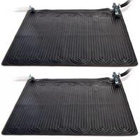 Intex Solvärmemattor PVC 1,2x1,2 m svart 2 st 28685