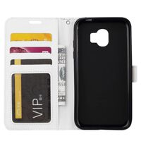 Mobilplånbok 3-kort Samsung Galaxy J4 Plus (SM-J415F) Vit