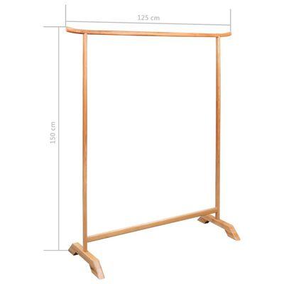 vidaXL Klädställning 125x150 cm massiv ek