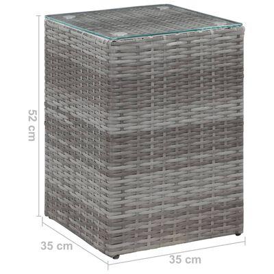 vidaXL Sidobord med glasskiva grå 35x35x52 cm konstrotting