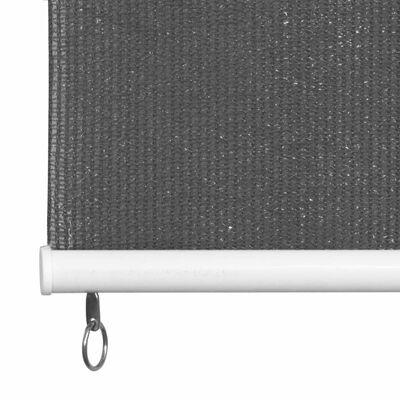 vidaXL Rullgardin utomhus 100x140 cm antracit