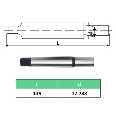vidaXL Snabbchuck MT3-B18 med 16 mm spännvidd