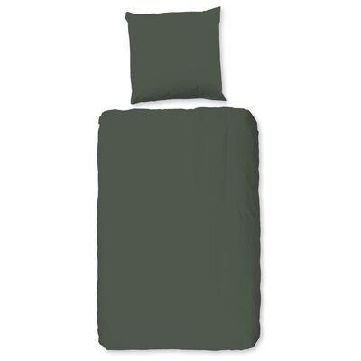 HIP Påslakan Uni 135x200 cm olivgrön